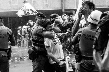 Protesto dos professores em Curitiba